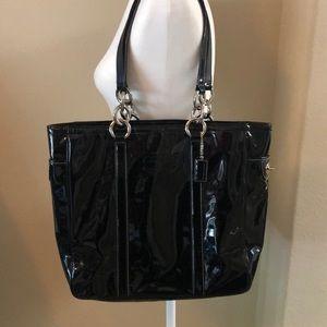 Coach Black Patent Shoulder Bag